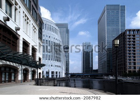 Modern architecture and office buildings. - stock photo