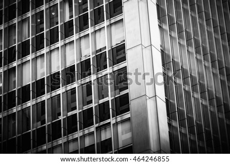 Modern architecture black and white