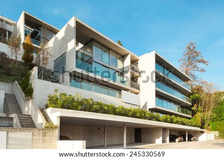 Modern architecture, building, view from outside - stock photo