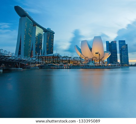 Modern architecture buildings at Singapore - stock photo