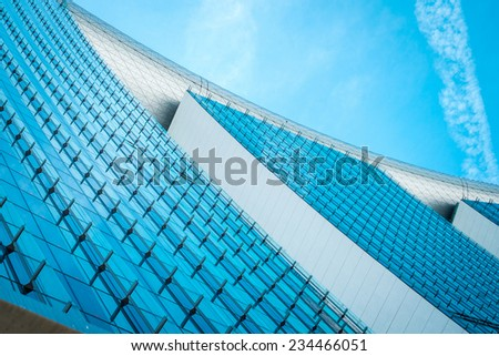 Modern architecture by the bay in Singapore - stock photo