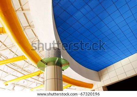 Modern architecture ceiling (top structure)