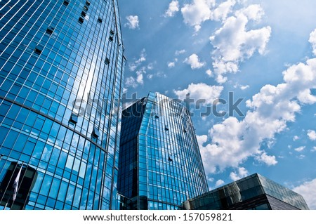 Modern Architecture Corporate Business Buildings - stock photo