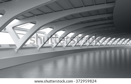 Modern Architecture Curved Ceiling Room Interior Car Background Backplate