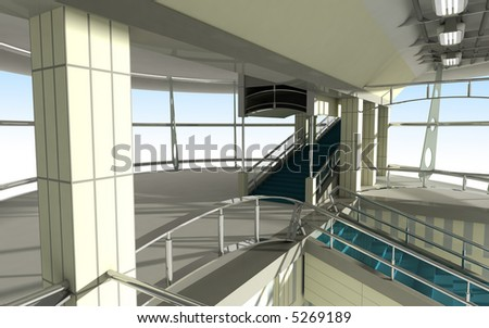 Modern Architecture Render modern architecture 3d render stock illustration 5269189
