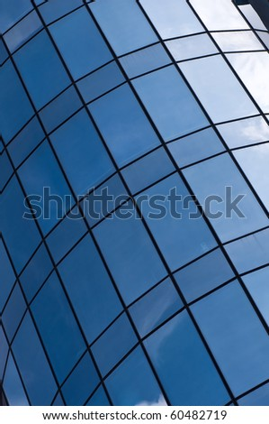 Modern architecture detail, modern office building - stock photo