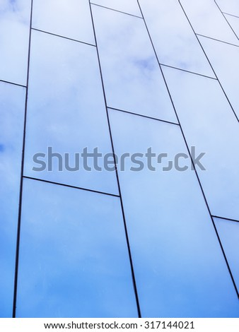 Modern architecture details Glass facade - stock photo