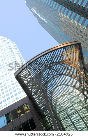 Modern architecture details  in downtown Toronto, Canada - stock photo