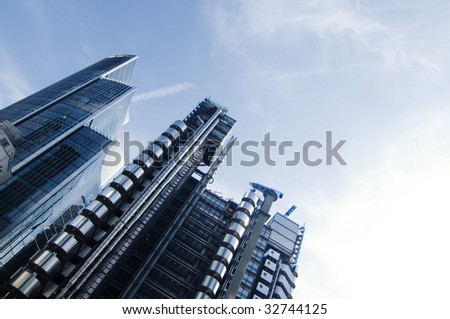 Modern architecture in city of London - stock photo