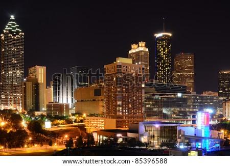 Modern Architecture in downtown Atlanta, Georgia, USA. - stock photo