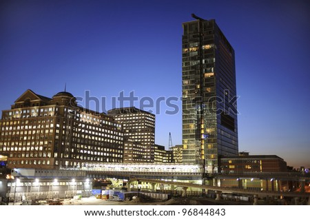 Modern architecture in London. - stock photo