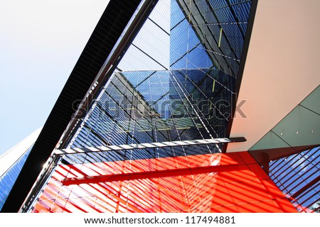 Modern architecture in London close up - stock photo