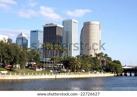 Modern Architecture in Tampa Florida, USA - stock photo