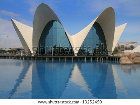 Modern Architecture in the City of Arts and Sciences in Valencia - stock photo