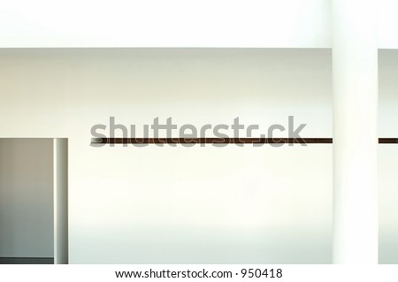 modern architecture - interior of a modern museum - stock photo