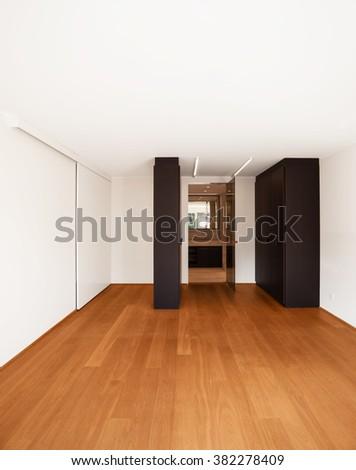 modern architecture, new empty apartment - stock photo