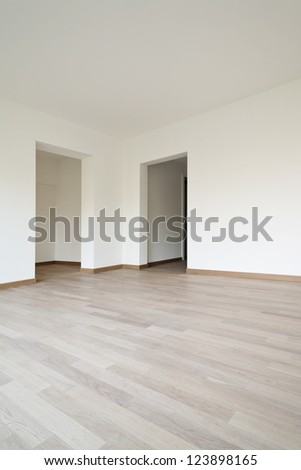 modern architecture, new empty apartment , doors