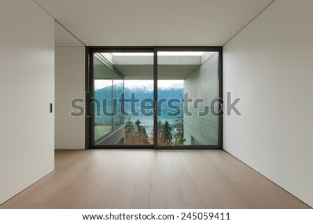 Modern architecture, nice apartment, room with window