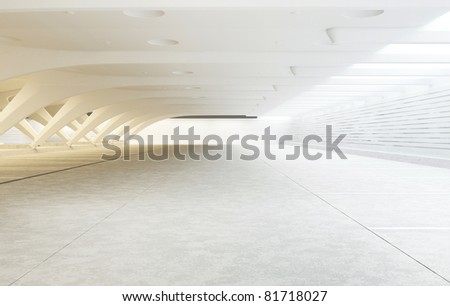 modern architecture of the room - stock photo