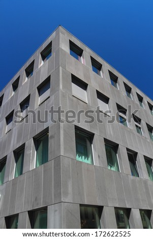 Modern architecture office building and clear blue sky