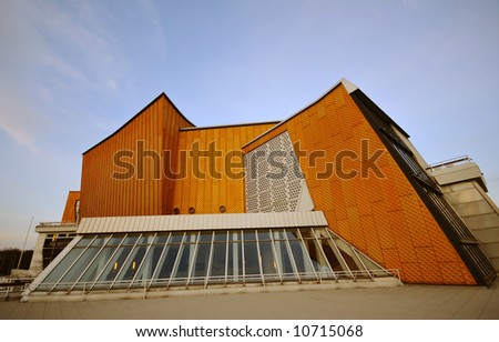 modern architecture, Philharmonie Berlin - stock photo