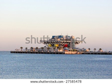 Modern Architecture, Pier in St. Pete Florida, USA - stock photo