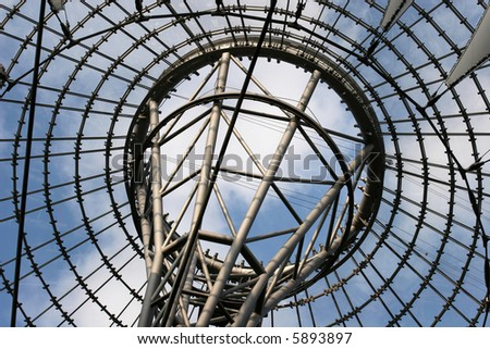 Modern architecture, roof of the Sony Center, Berlin, Germany
