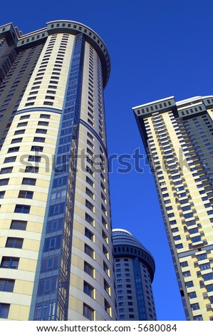 modern architecture towers - stock photo