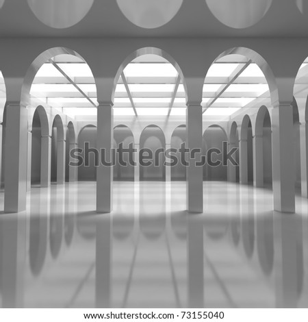 Modern Architecture Classical Elements 3 D Illustration Stock ...