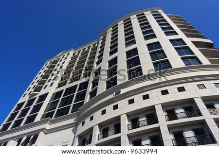 Modern art deco office building in south florida - stock photo