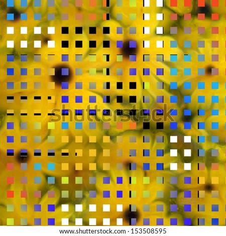 Modern art inspired composition - stock photo