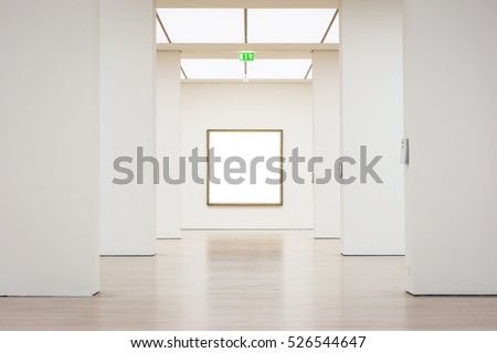 Modern Art Museum Frame Wall Clipping Foto de stock (libre de ...