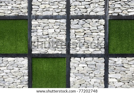 Modern art wall of international garden exhibition in Thailand. - stock photo