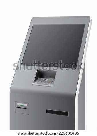 Modern atm machine - stock photo