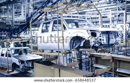 modern automatic automobile manufacturing workshop busy stock photo royalty free 658648537. Black Bedroom Furniture Sets. Home Design Ideas
