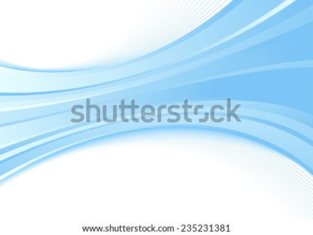 Modern background with a blue wave - certificate or folder template. illustration - stock photo