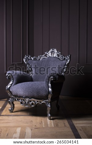 Modern baroque Chair on Stage  - stock photo