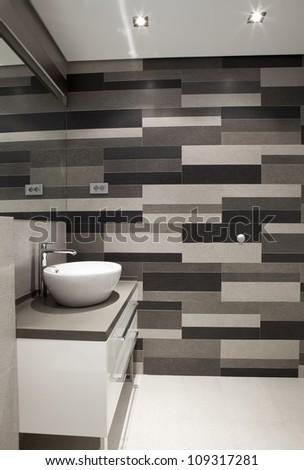 Modern bathroom - stock photo