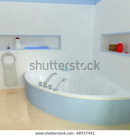 modern bathroom.3d render