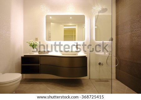 Modern bathroom design - stock photo