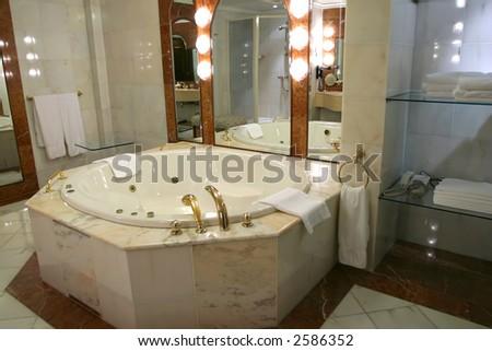 Modern bathroom  in a luxury home - stock photo