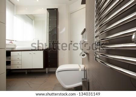 Modern bathroom interior - stock photo