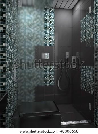 modern bathroom interior design - stock photo