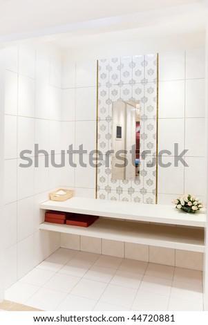 Modern bathroom view - stock photo