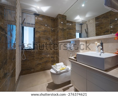 modern bathroom with nice decoration