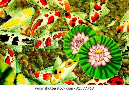 modern batik background - stock photo
