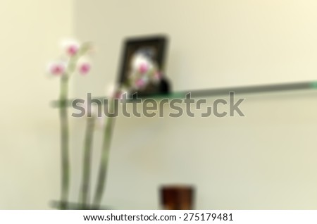 Modern beauty salon blur background with bokeh