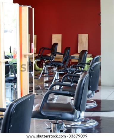 Modern beauty salon interior - stock photo
