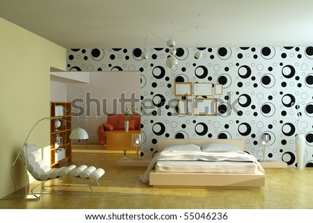 Modern Bedroom 3d Render I Am The Author Of Wallpaper