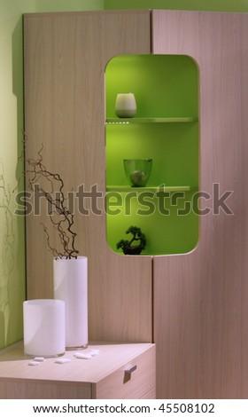 Modern bedroom interior. - stock photo